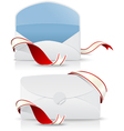 Realistic envelope with red ribbon vector