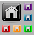 Set web buttons home vector