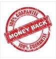Money back stamp vector