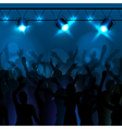 Neon disco background dancing people vector