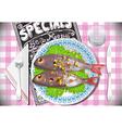 Special fish dinner vector