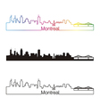 Montreal skyline linear style with rainbow vector