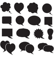 Set silhouette speech bubbles vector