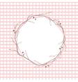 Pink leaf round frame vector