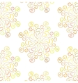 Colorful circular floral ornament on white vector