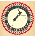 Vintage label-sticker cards of new zealand vector