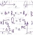 Seamless formula background vector