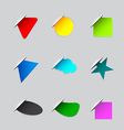 Stickers on the edge of the web page vector