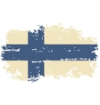 Finnish grunge flag vector