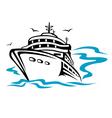 Transport ship silhouette vector