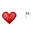 Heart pulsing vector
