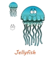 Cartoon underwater jellyfish vector