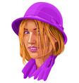 Woman portrait vector