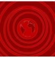 Red flat minimal tech background vector