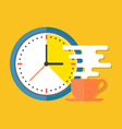 Coffee time concept flat design stylish isolated vector