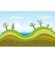 Green hills vector