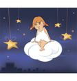 A cute little angel a girl cartoon vector