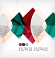 Semicircle geometric abstract background vector