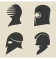 Helmet icon set vector