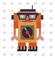 Robot hipster dj vector