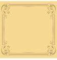 Vintage beautiful elegant frame element for design vector