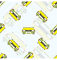 Seamless background with kids toy cars vector