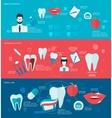 Teeth banner set vector