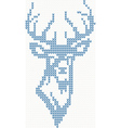 Knitted deer sweater background vector