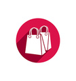 Shopping bag icon isolated vector