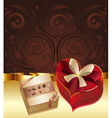 Brown background with chocolate box4 vector