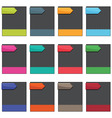 Boxes with tags vector