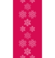 Red lace christmas snowflakes geometric textile vector
