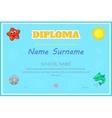 Preschool kids diploma certificate design template vector