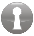 Keyhole gray icon vector
