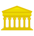 Gold ionic temple vector