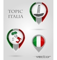 Topic italia map marker vector