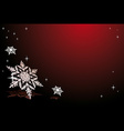 Snowflakes on red vector