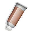 A brown medicinal tube vector