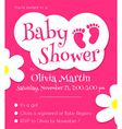 Baby shower invitation template vector