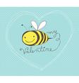 Bee my valentine vector