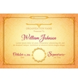 Golden classic premium plaque vector