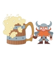 Dwarf with great beer mug vector