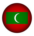 Maldives flag button vector