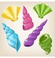 Cute shiny seashells vector