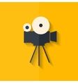 Video camera icon media symbol flat design vector