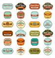 Set of vintage retro labels vector