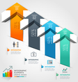 3d arrow business infographics vector