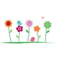Summer floral border vector