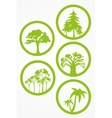 Trees - set vector