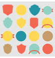 Set of stickers vector